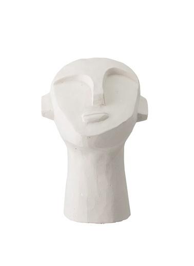 Warm Design Heykel Yüz Dekoratif Obje Beyaz